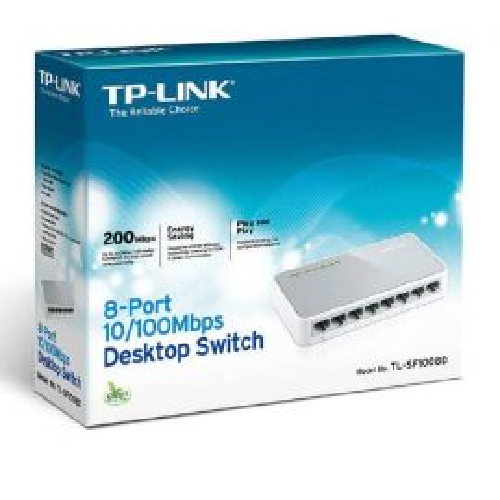 TP-LINK 8 Port 10/100Mbps Desktop Switch