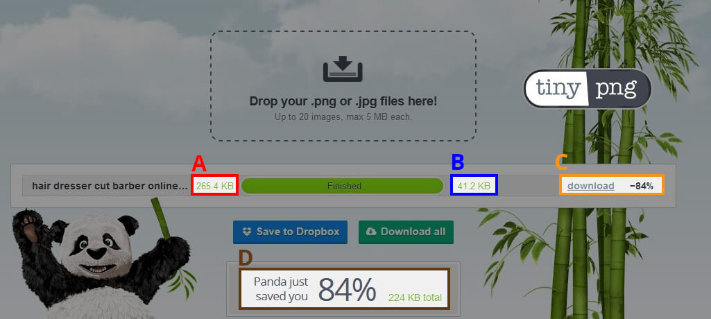 image guidelines online ecommerce shopping zonline tinypng